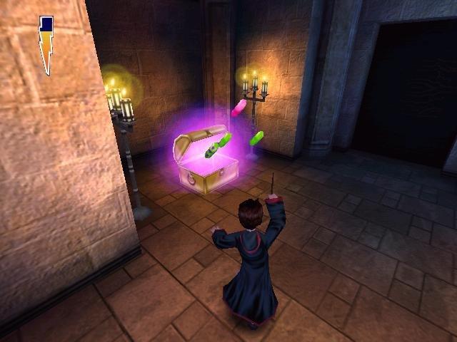Harry Potter odemykající truhlu