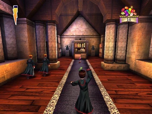 Harry Potter na chodbě.